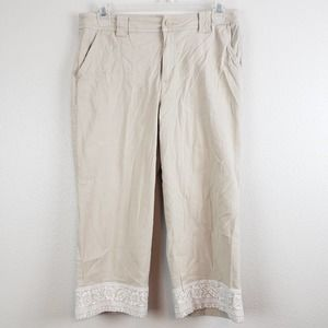 Coldwater Creek 12 Khaki Cropped Pants